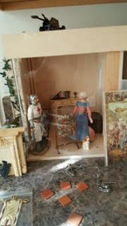 French miniature room box